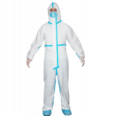 AAMI Level 3 Disposable Pressure Glue Protective Coverall  (30 Pcs/Package)